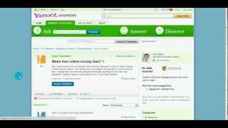 Http://www.dormroomcash.com if you want to get traffic from yahoo answers, then need answer a decent amount of questions but also make sure your answe...
