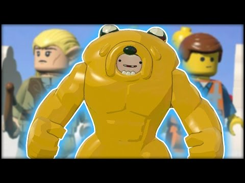 LEGO Dimensions - ALL CHARACTERS IN JAKE SUIT - Adventure Time Jake Army!