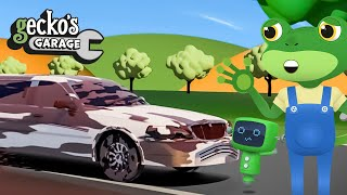 Limousine Stuck In The Mud!|Gecko's Garage|Funny Cartoon For Kids|Learning Videos For Toddlers
