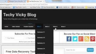 How I made my blog - How to Add or Remove the Menu and Sub menus from html code? Part 7