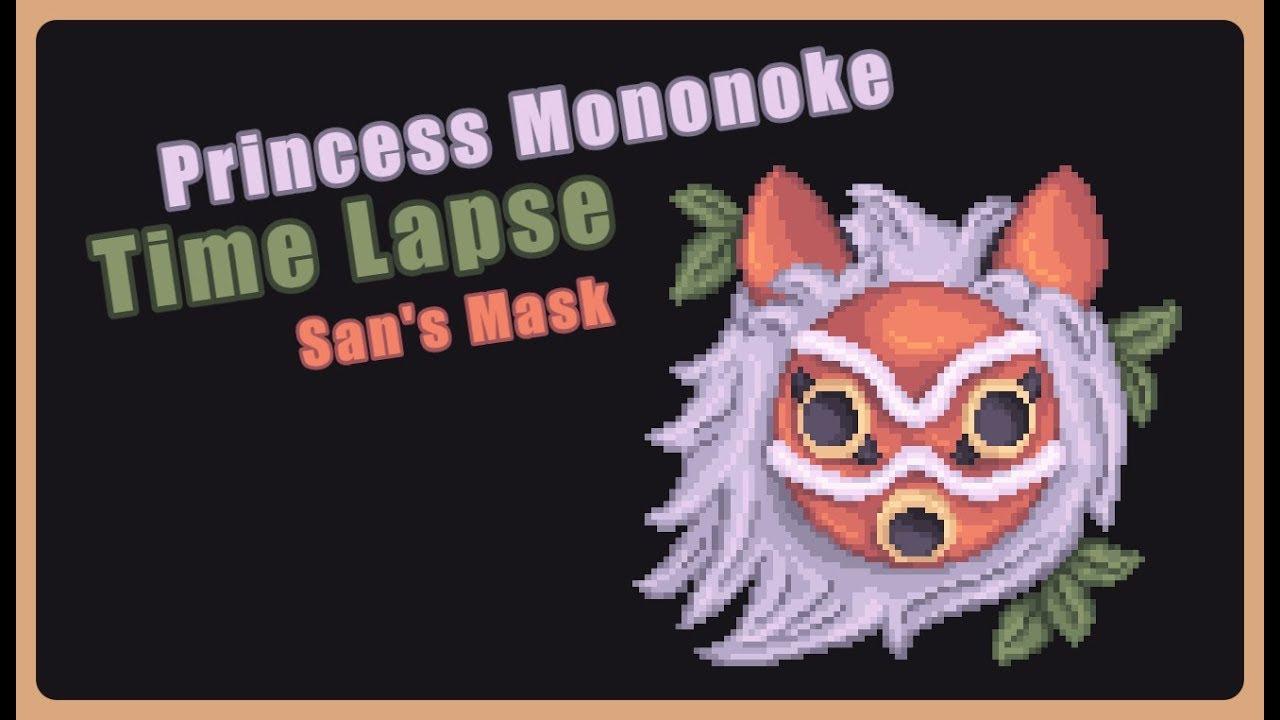 Princess Mononoke San S Mask Time Lapse Youtube