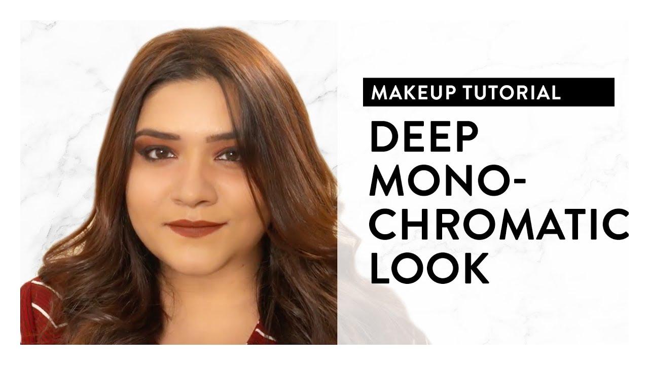 Deep Monochromatic Makeup Look   Makeup Trends 2018   MyGlamm