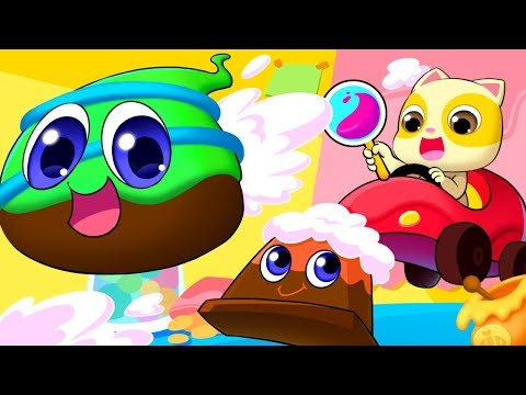 Chocolate And His Friends | Food Song | Colors Song | Nursery Rhymes | Kids Songs | BabyBus