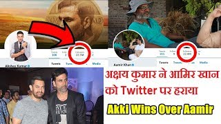 Akshay Kumar Beat Aamir Khan On Twitter