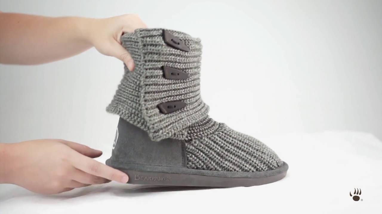 BEARPAW Women s Knit Tall Boots - YouTube eed5ae76f2