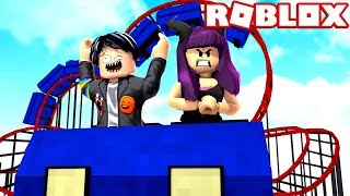 NINA UNBEARABLE goes to the amusement park in ROBLOX😝😈