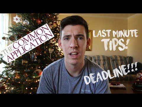 LAST MINUTE TIPS FOR YOUR COLLEGE APPLICATION & special announcement