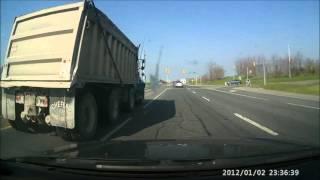 Dump Truck Runs Red