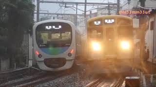 西武池袋線台風19号計画運休の朝休日ダイヤ列車観察20191012