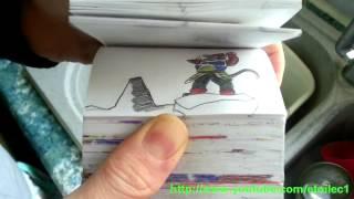 Dragon Ball Z Flipbook Episode 4 Bardock vs frieza7
