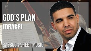 EASY Bassoon Sheet Music: How to play God's Plan by Drake