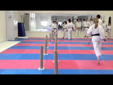 Mawashi Geri Training Drill | Shotokan Karate in Winnipeg | Charleswood Karate 2012