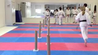 Mawashi Geri Training Drill | Shotokan Karate In Winnipeg | Charleswood Karate 2012
