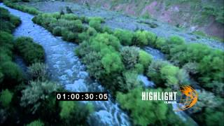 HD Aerial footage of israel: Jordan River