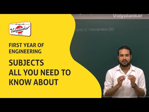First Year of Engineering & Subjects All You Need to Know About  | Vidyalankar Classes