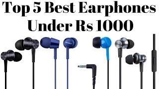 Video Top 5 Best Earphones Under Rs 1000 In 2018 | Best Budget Earphones. download MP3, 3GP, MP4, WEBM, AVI, FLV Juni 2018