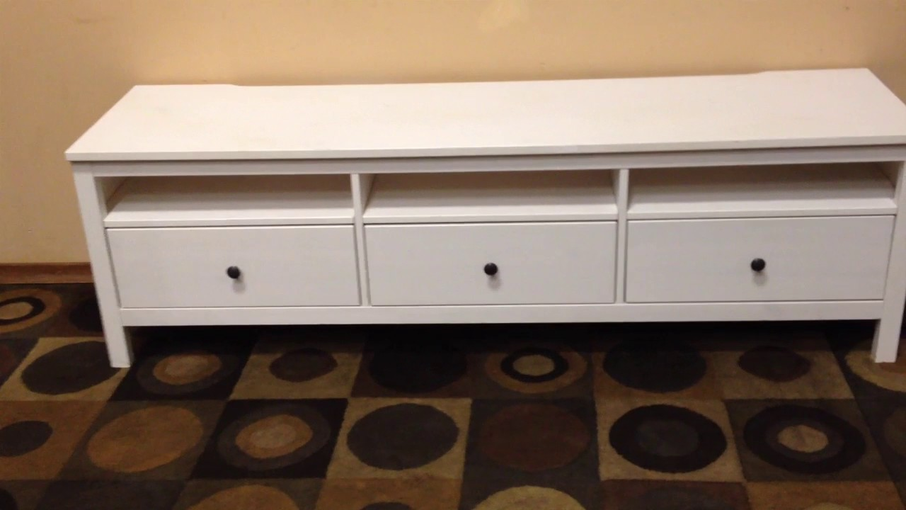 ikea hemnes tv stand - YouTube