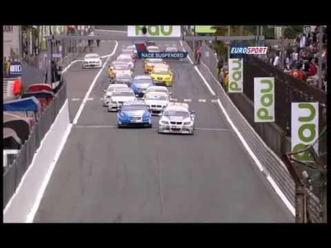Safety car crash in Pau (WTCC 2009)