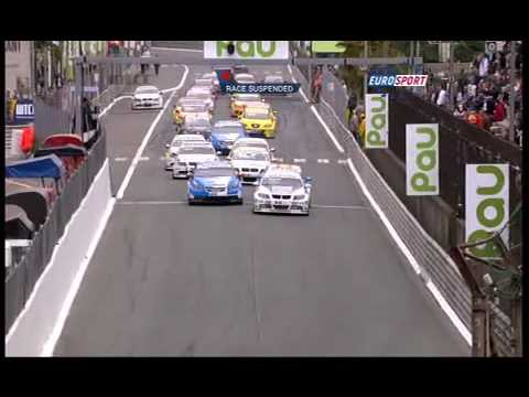 Safety car crash in Pau (WTCC 2009)