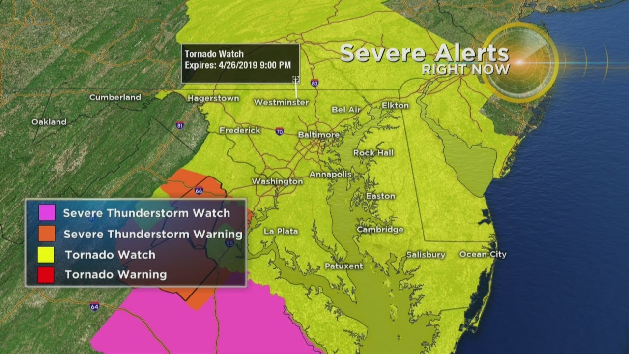 Maryland Weather: Tornado Watch Issued For Parts Of Maryland ...
