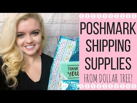 POSHMARK SHIPPING SUPPLIES FROM DOLLAR TREE | HOW TO SHIP POSHMARK PACKAGES
