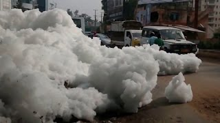 Indian Polluted Lake Catches Fire