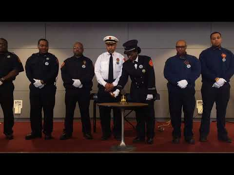 Flint firefighters pay respects to Martin Luther King., Jr. with ceremonial bell toll