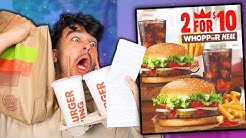Letting Advertisements DECIDE What i Eat for 24 HOURS! (IMPOSSIBLE FOOD CHALLENGE)