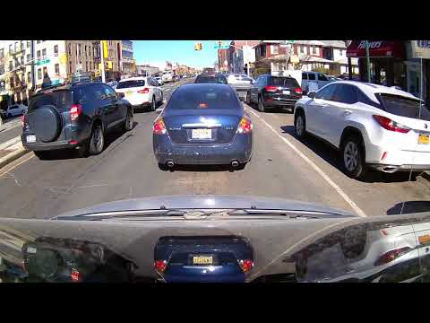 Driving Downtown - Midwood - Coney Island Ave - Brooklyn - New York  - USA