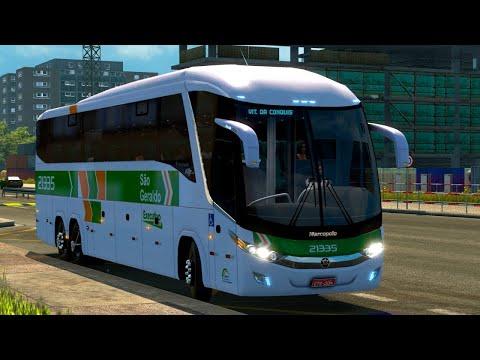 SIMULAÇÃO ao EXTREMO #4 - ITABUNA P/ TEIXEIRA DE FREITAS VIAÇÃO SÃO GERALDO l Euro Truck Simulator 2