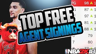 SIGNING THE 2 BEST PLAYERS IN THE NBA! REBUILDING THE BULLS! NBA 2K18