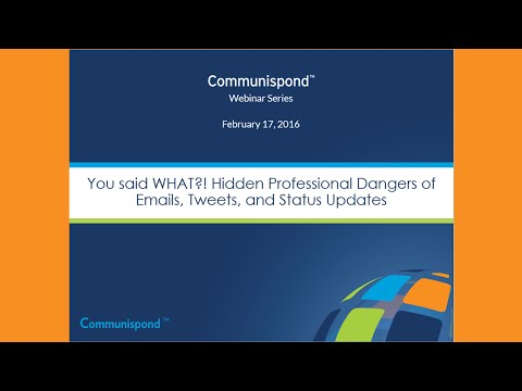 You Said What?! Hidden Professional Dangers of Emails, Tweets, and Status Updates