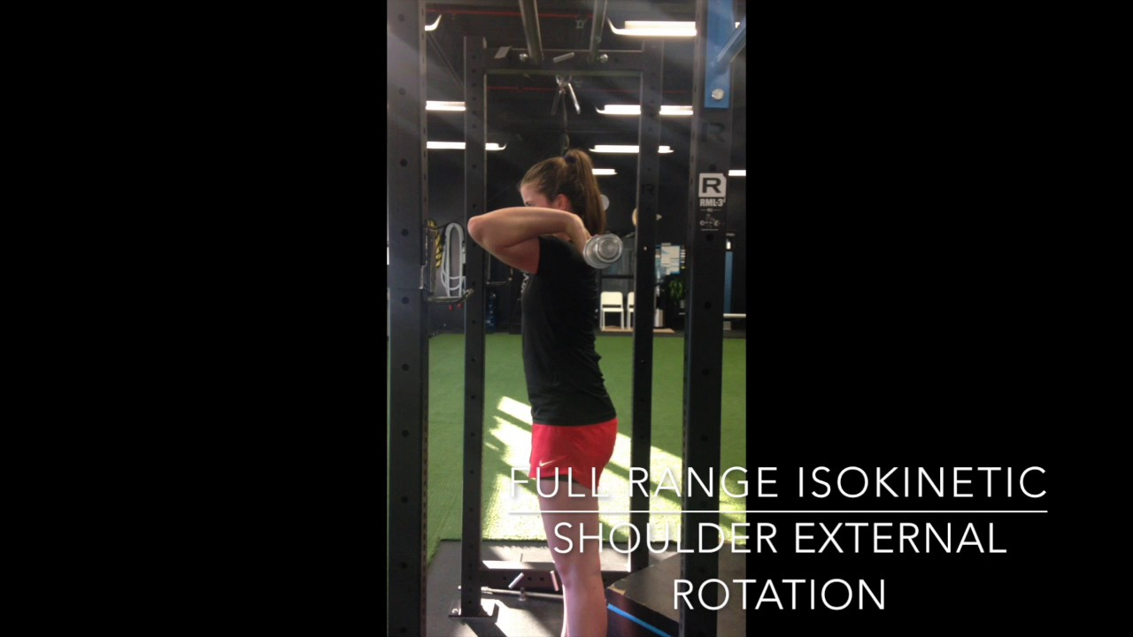 Full Range Isokinetic Shoulder External Rotation with Barbell exercise
