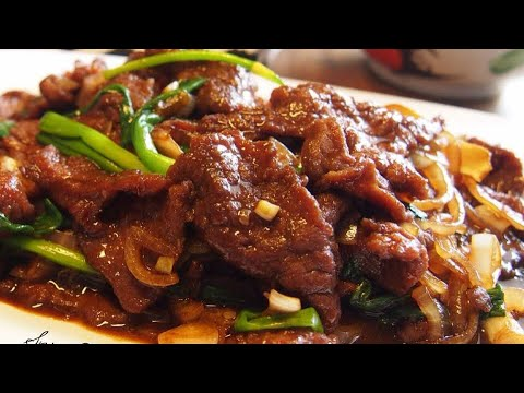 BEST EVER Stir Fry Beef W/ Ginger & Spring Onion Recipe 姜葱牛肉 Amazingly Tender! Chinese Beef Recipe