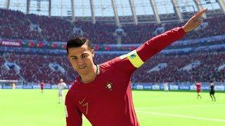World Cup 2018 - Portugal vs Morocco - Group B Full Match Sim (FIFA 18)