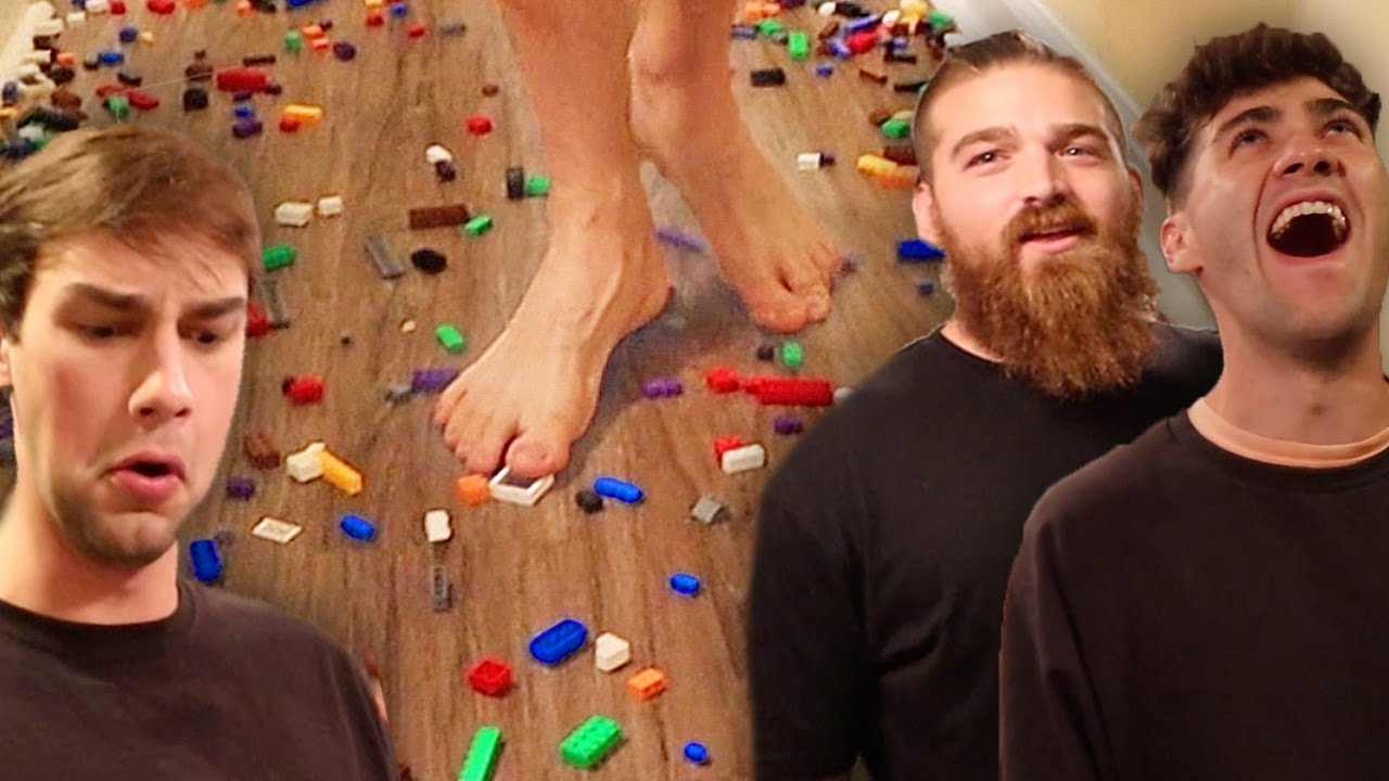 Paying Famous YouTubers to walk on LEGOS!