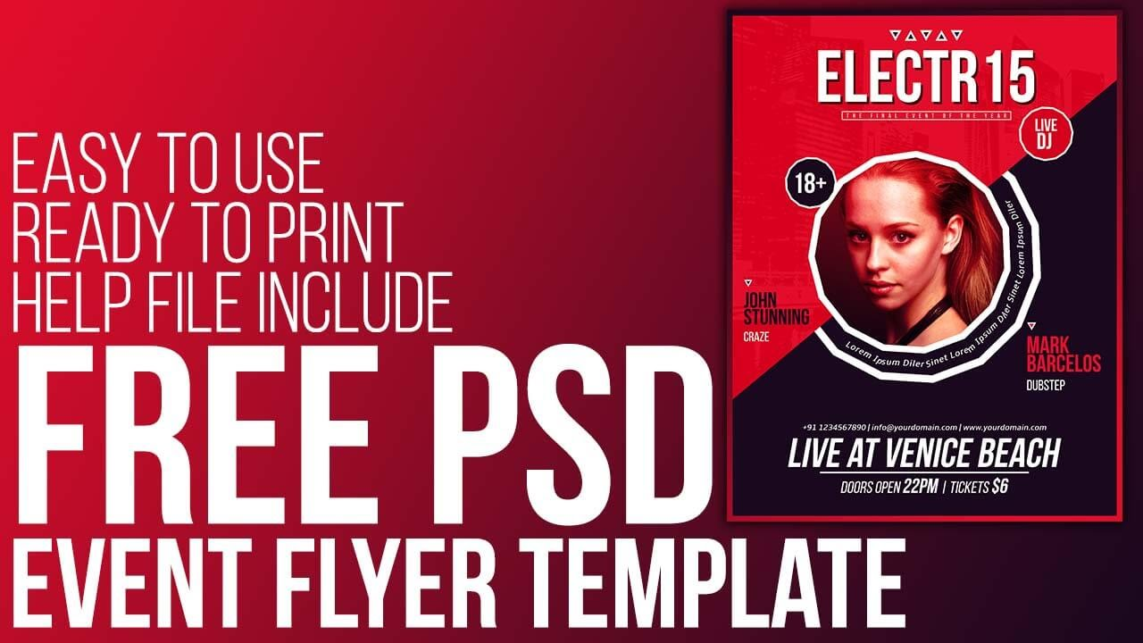 Free psd event flyer template ready to print free download free psd event flyer template ready to print free download youtube maxwellsz