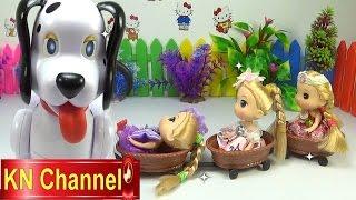 Đồ chơi trẻ eṁ Bé Na Nhật ký Chibi búp bê tập Cưỡi chó đốm Baby Doll Stop motion Kids toys