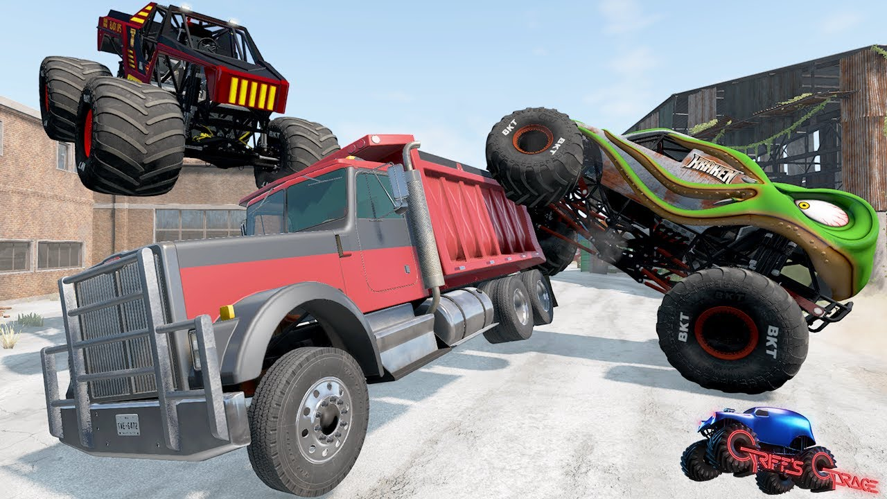 MONSTER JAM MADNESS #37 | Crashes, Jumps and Freestyle Tournament! - BeamNG Drive