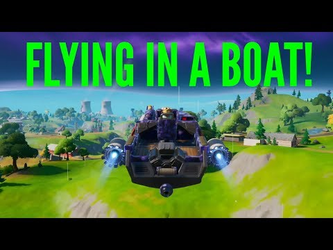 HOW TO FLY IN A BOAT IN FORTNITE CHAPTER 2 *GLITCH*