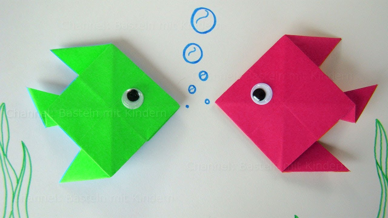 Origami Fisch Origami Fish Fold A Fish With Paper Easy Paper Fish
