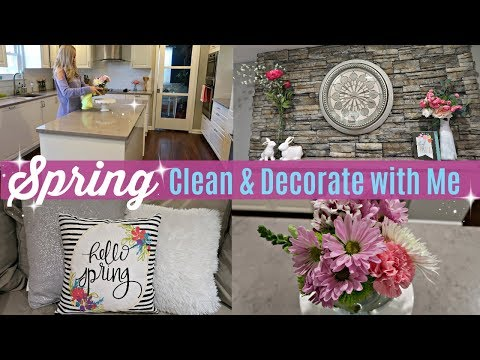 SPRING CLEAN & DECORATE WITH ME 2018 // CLEANING MOTIVATION // SPRING DECOR /BEAUTY AND THE BEASTONS
