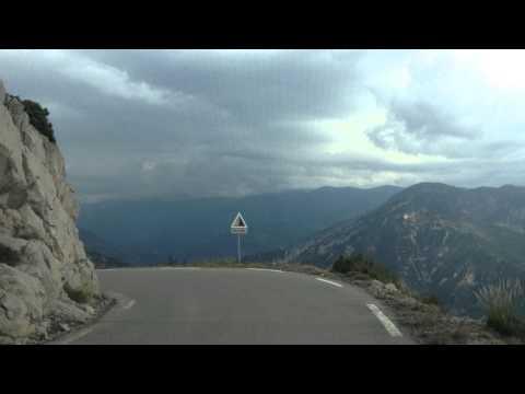 Driving back down from La Madone d'Utelle, Côte d'Azur, France