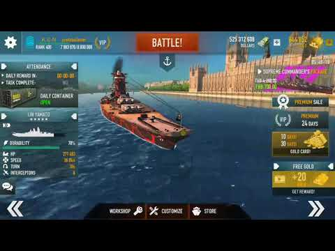 BATTLE OF WARSHIPs Naval Blitz 1.66.11 :: YaMaTo Floating Hotel