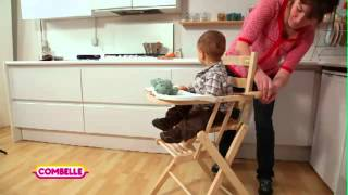 Chaise Combelle Extra-pliante - Bois De Hêtre // Combelle Foldable High Chair - Beech Wood