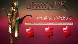 [RSPS] SpawnPk- Progress Video 5- Made 50b? Prize key Loot! Insane luck!