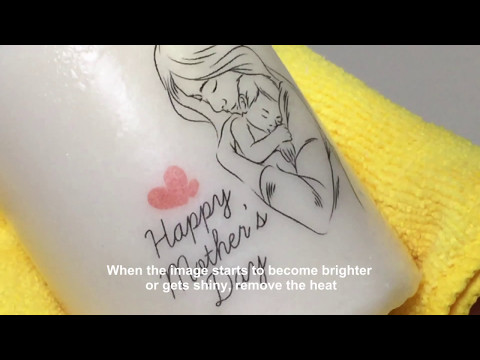 Photo Transfer on Candles