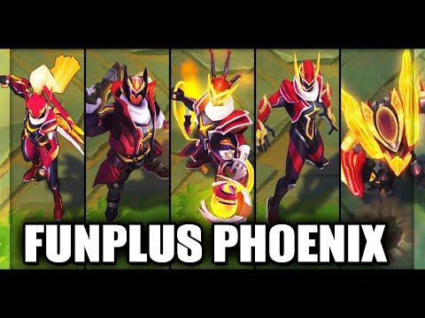 All New FunPlus Phoenix FPX Skins Spotlight Vayne, Lee Sin, Gangplank, Thresh, Malphite - LoL
