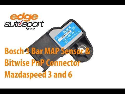 Bosch 3 Bar MAP Sensor and Bitwise Connector Mazdaspeed 3/6