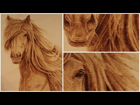 Beautiful Horse Wood Burning Art Youtube